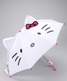 Take a look at this White & Pink Hello Kitty Umbrella by Skipping in the Rain: Umbrellas on #zulily today!