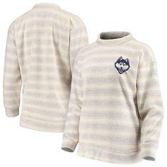 UConn Huskies Women's The Skipper Striped Pullover Sweatshirt – Navy/Cream
