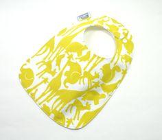 Baby bib / Animal Bib /Gender Neutral Baby Bib / by TextileTrolley, $10.00
