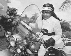 "Bessie Stringfield would toss a penny onto a map and set out on one of the twenty-seven Harley's she owned to wherever it landed. Her ""Penny Tours"" took her all over the US, including the segregated south. ""An Irish lady raised me,"" she said ""She gave me whatever I wanted. When I was in high school I wanted a motorcycle. And even though good girls didn't ride motorcycles, I got one."" (in 1927!)"