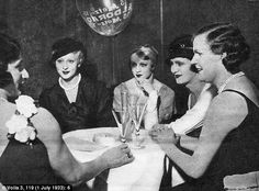 Transvestites having drinks in the Eldorado club that was not hidden away but celebrated in the golden age of the gay bar and club scene in Weimar Berlin. It was a hot spot for high society and partying until dawn was the norm