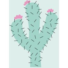 Cactus Print ($13) ❤ liked on Polyvore featuring home, children's room and children's decor