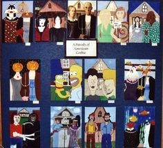 American Gothic Parody - could have social studies students show couples from various time periods or famous couples.