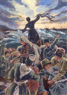 Faruk Kutlu, Karadeniz kıyılarında gemi bekleyen Adigeler