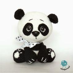Crochet Panda, Crochet Baby Toys, Cute Crochet, Crochet Animals, Crochet Dolls, Crochet Bear Patterns, Amigurumi Patterns, Crocheted Jellyfish, Newborn Toys