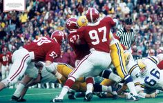 John Mitchell (97) was a 2-time All-SEC player for the Alabama Crimson Tide. #Alabama #RollTide #BuiltByBama #Bama #BamaNation #CrimsonTide #RTR #Tide #RammerJammer