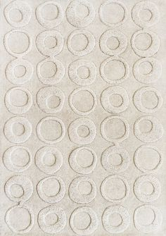 Tufted wool rug with a hand-carved circle motif. Tufted wool rug with a hand-carved circle motif. Textures Patterns, Print Patterns, Rug Studio, Textiles, Fabric Manipulation, Carpet Design, Contemporary Rugs, Natural Rug, Textile Design