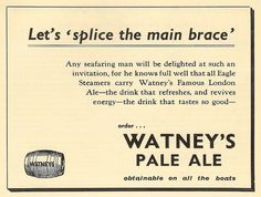 """Watney's - a once famous London Brewery that latterly was sadly best known for its keg version of the old 'Red Barrel"""" beer that was also its logo."""
