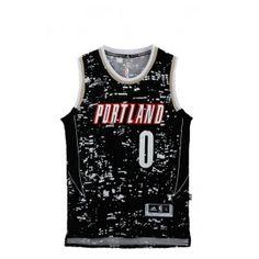 9526a5374a1 Damian Lillard, Number 0, Portland Trailblazers, Trail Blazers, Nba