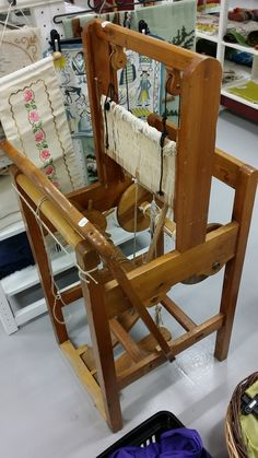 mini loom, found in secondhand store in sweden