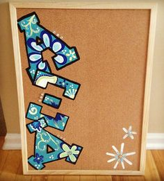 Alpha Xi Delta painted cork board