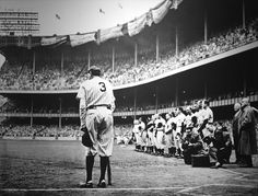 "Babe Ruth Retires No. 3    1949 Pulitzer Prize, Photography, Nathaniel Fein, New York Herald Tribune.    Yankee Stadium, June 13, 1948. The stands are packed. But the fans aren't here just for a baseball game. They've come out to honor one of the greats, baseballs most beloved player: Babe Ruth.    Down on the field. New York Herald Tribune photographer Nat Fein has a close-up view of the home run hero, slumped in the dugout, weakened by illness. ""He looked tired, very tired; the power that…"