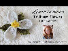 Trillium Free Crochet Pattern - Right Handed - YouTube - Maggie's Crochet