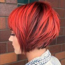 Short Hairstyles Red And Black - 1