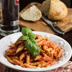 Penne Alla Vodka is always a popular dish. Who can resist pasta, cream, and vodka? This recipe is spiced up with a few red pepper flakes for extra flavor.