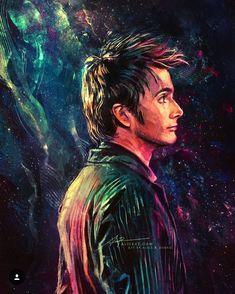 Doctor Who fan art of David Tennant as the Doctor / Ten Doctor Who 10, Doctor Who Fan Art, Doctor Who Quotes, Eleventh Doctor, Diy Doctor, Art Twenty One Pilots, Fan Art Avatar, Sherlock, Serie Doctor