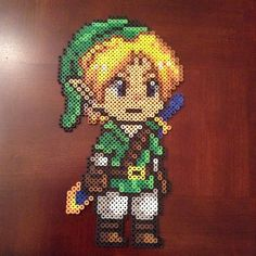 Link Legend of Zelda perler beads by the_world_ends_with_you