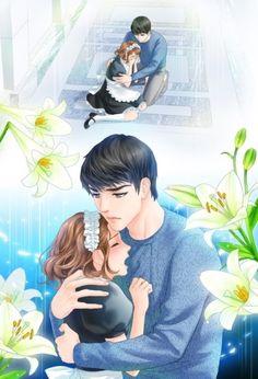 전화와 나-로맨스(완결) : 네이버 블로그 Manga Couple, Anime Love Couple, Couple Cartoon, Cute Anime Couples, Anime Sexy, Anime Sensual, Anime Guys, Anime Couples Drawings, Cartoon Drawings