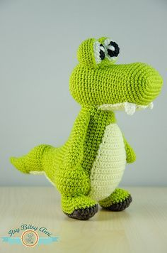 Zapy, The Crocodile by ItsyBitsyAmi, via Flickr amigurumi crochet