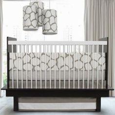 Modern Nursery Crib Bedding by Oilo - Cobblestone Collection