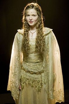Holliday Grainger - golden medieval dress
