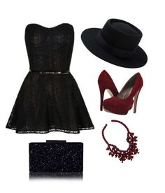 """Night Out With Friends"" by takaraeverett-1 ❤ liked on Polyvore featuring Michael Antonio and Ek Thongprasert"
