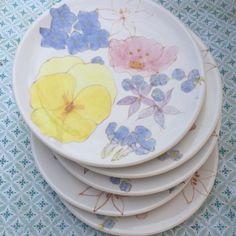 Ernestine Salerno desert plates.