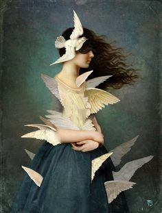 CHRISTIAN SCHLOE * Austrian * digital art ~ painting ~ illustration ~ photography * woman  ~ dreams
