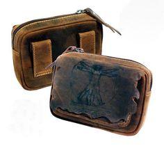 Vintage Look  Leder Gürteltasche 16cm Hüfttasche Bauchtasche Sidebag APROPOS