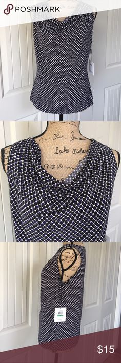 ▪️NWT▪️ Calvin Klein Patterned Dress Top New with tags. NWT. Cute Sleeveless dress Top. Scoop neck. Petite large, fits like a regular small. Calvin Klein Tops