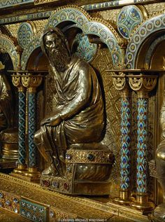 Nicholas of Verdun-A Prophet Nicholas of Verdun was a French artist, one of the most famous goldsmiths and enamellists of the Middle Ages, Romanesque Art, Roman Church, Gothic Architecture, Medieval Art, Gothic Art, Ancient Romans, French Artists, Middle Ages, New Art