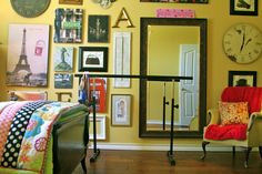 decorating vintage bedroom for teen | Amazing Yellow Teen Room Design With A Lot Of Vintage Wall Decorations ...