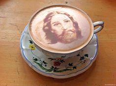 Jesus Cappuccino anyone? #Photoshop