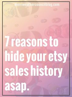 From Vera💖-I didn't read yet but the title seemed super important. I suggest looking into this if selling on Etsy! Etsy allows sellers to hide their sales history, here's why you might want to do that! Craft Business, Creative Business, Mobile Business, Business Advice, Online Business, Business Help, Starting An Etsy Business, Le Shop, Do It Yourself Fashion