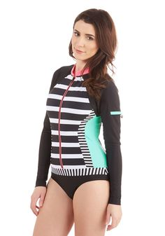 e7af9d5462ba5 Surfing the Swells One-Piece Swimsuit. Standing tall atop your surfboard in  this striped