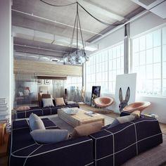 Un sofá para conversar #Salones  #Living_room  #bright