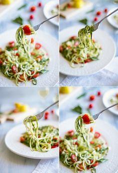 Zucchini Noodle Salad #recipe #healthy #food #salad