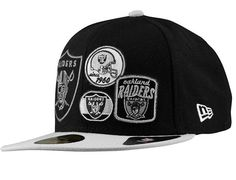 Oakland Raiders Patch Batcher 59Fifty Fitted Baseball Cap by NEW ERA x NFL