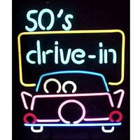 50'S Drive In Neon Sign
