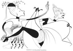 'can-can' by al hirschfeld