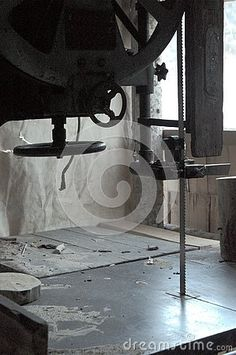 Photo about Woodworking workshop, detail of bandsaw cutting lumber in shadow. Image of blade, steel, detail - 135974033 Woodworking Bandsaw, Woodworking Guide, Woodworking Workshop, Custom Woodworking, Woodworking Projects Plans, Shadow Photos, How To Read Faster, Different Types Of Wood