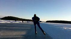 speed skating at Lake Runn, Sweden