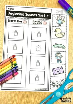 Free phonemic awareness worksheets for preschool, kindergarten, and first grade. Printable, interactive and picture-based with answer keys included! Phonemic Awareness Kindergarten, Phonemic Awareness Activities, Kindergarten Learning, Teaching Reading, Guided Reading, Phonological Awareness, Comprehension Activities, Phonics Activities, Language Activities