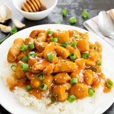 Slow Cooker Honey Garlic Chicken. An easy and delicious weeknight meal.