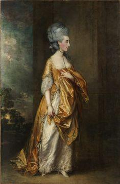 "Thomas Gainsborough (English): Oil Painting, ""Mrs. Grace Dalrymple Elliott"" (1778) [Metropolitan Museum of Art, New York City]"