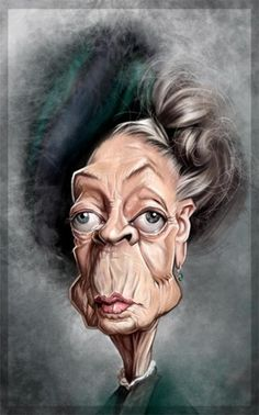 Maggie Smith by Patstr via wittygraphy