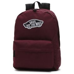 Shop Realm Backpack today at Vans. The official Vans online store. Brown Backpacks, Cute Backpacks, School Backpacks, Teen Backpacks, Leather Backpacks, Leather Bags, Vans School Bags, Vans Bags, Canvas Backpack