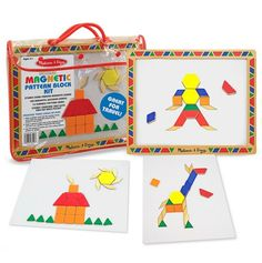 Magnetic Pattern Block Kit - Melissa & Doug Classic Toys - Events