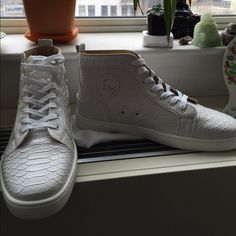 Doesnt fit anymore! White Python Christian Louboutin Sneaker and Price Negotible........... Christian Louboutin Shoes Athletic Shoes