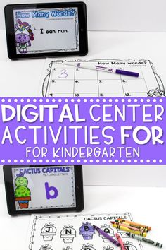 Do you need some digital center activities for kindergarten? In this blog post, I share some of my favorite digital kindergarten literacy centers, and math centers for kindergarten.